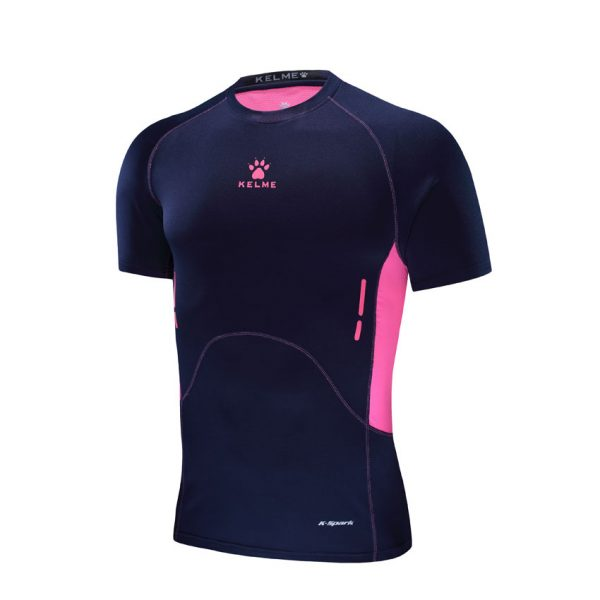 MEN'S TECH FIT SHIRT – DARK BLUE/NEON ROSE ! Apollo Sports