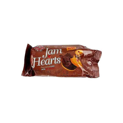 KOLSON JAM HEARTS CHOCOLATE CREAM BISCUIT H/R