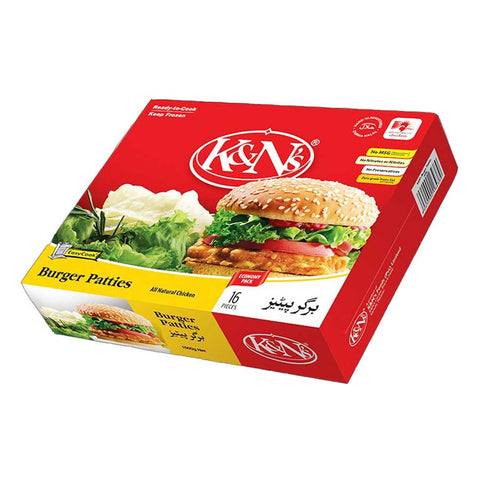 K&N'S BURGER PATTIES 1070 GMS