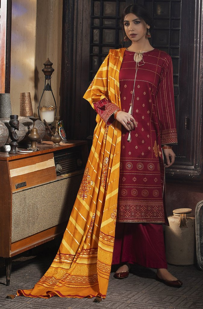 Lakhany by LSM Dareechay Fabrics Gold Printed Lawn Collection'21