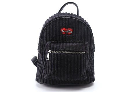 Black Corduroy Backpack  | Funky Fish