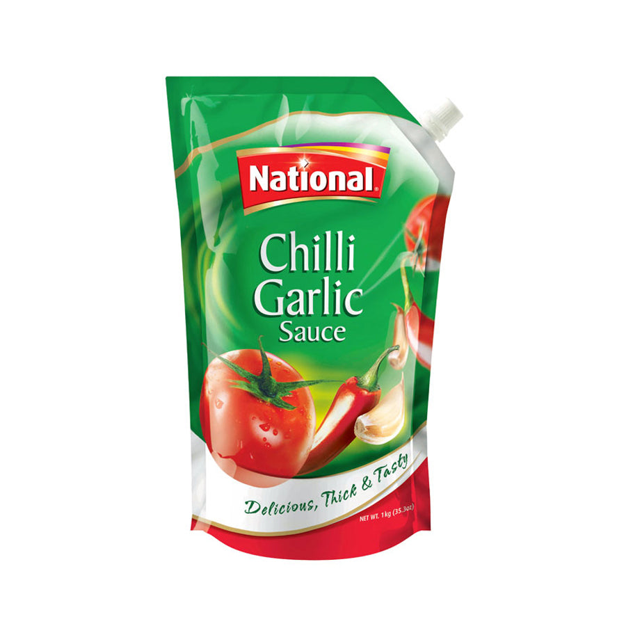 NATIONAL CHILLI GARLIC SAUCE POUCH 475 GMS