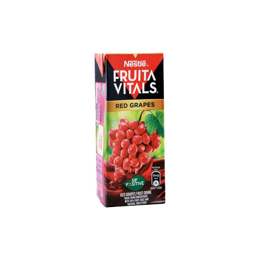 NESTLE FRUITA VITALS RED GRAPES FRUIT DRINK 200 ML