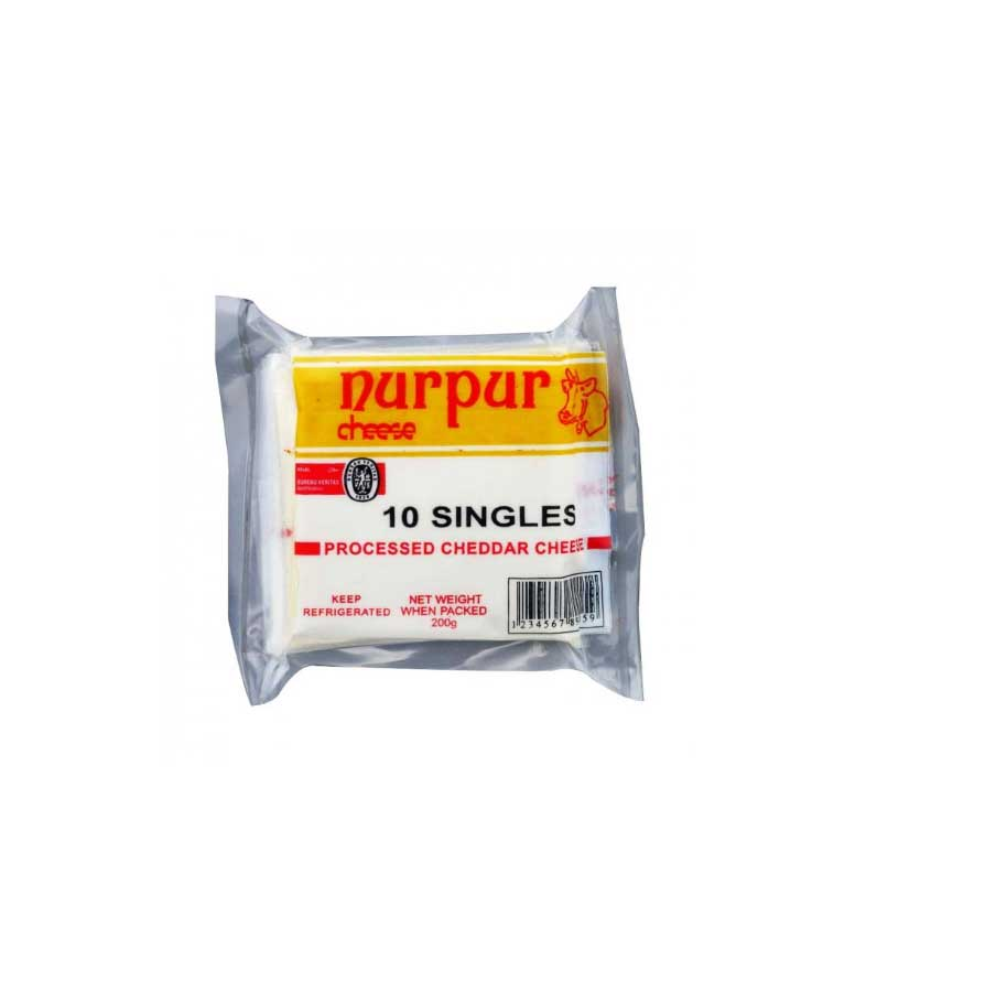 NURPUR PROCESSED CHEDDAR CHEESE 200 GMS