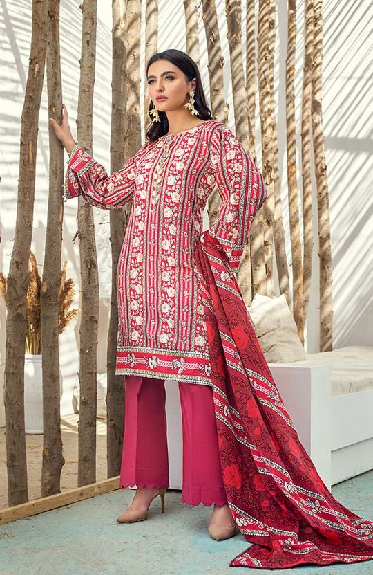 AL-Zohaib SUNSHINE BLOOM COTTON SILK'19 SSB19-P04