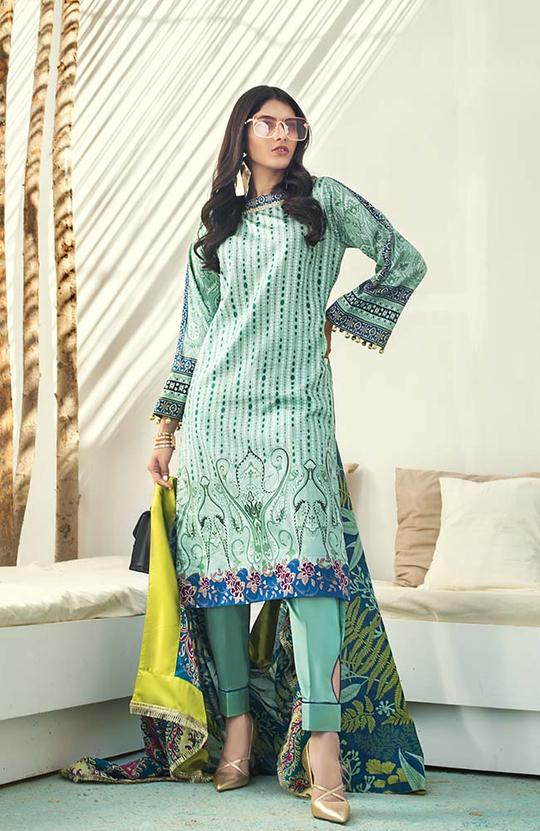 AL-Zohaib SUNSHINE BLOOM COTTON SILK'19 SSB19-P05