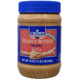 CROWN PEANUT BUTTER CHUNKY 18OZ