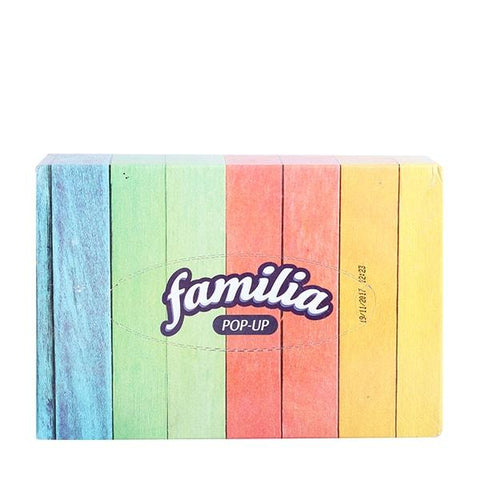 FAMILIA POPUP 2 PLY FACIAL TISSUE BOX