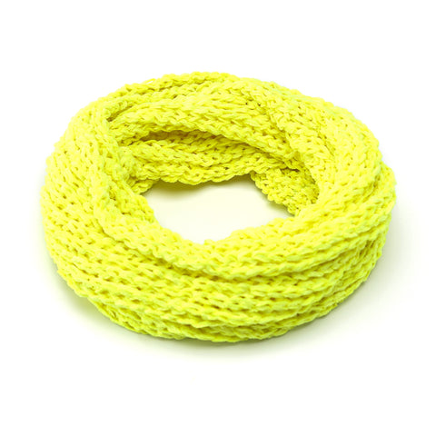 Round Winter Neck Scarf - Neon Yellow | Funky Fish