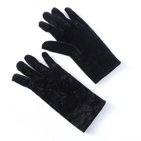 Fitted Velvet Gloves - Black  | Funky Fish