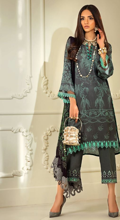 Sana Safinaz Muzlin Winter Collection'20 Codes: 5B (3 Piece)