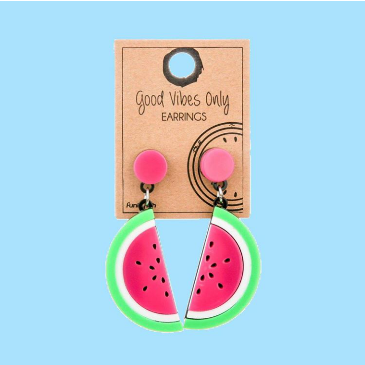 Watermelon PVC Earrings | Funky Fish