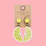 Lemon PVC Earrings | Funky Fish