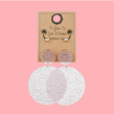 Glitter PVC Earrings Set | Funky Fish