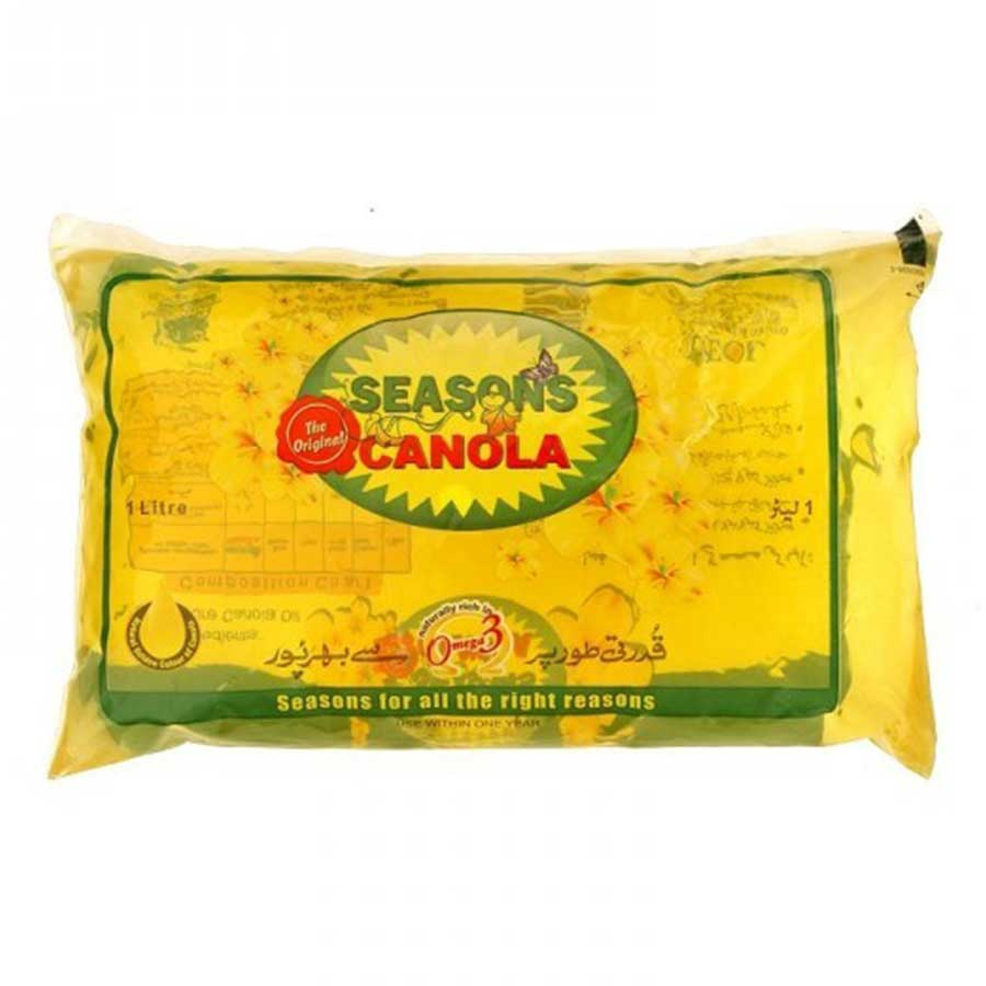 SEASONS CANOLA OIL POUCH 1 LITRE