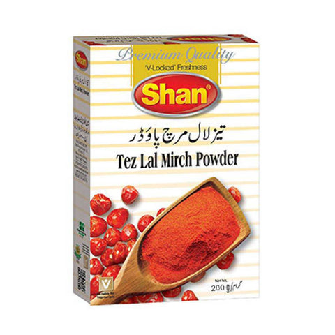 SHAN TEZ LAL MIRCH POWDER 200 GMS