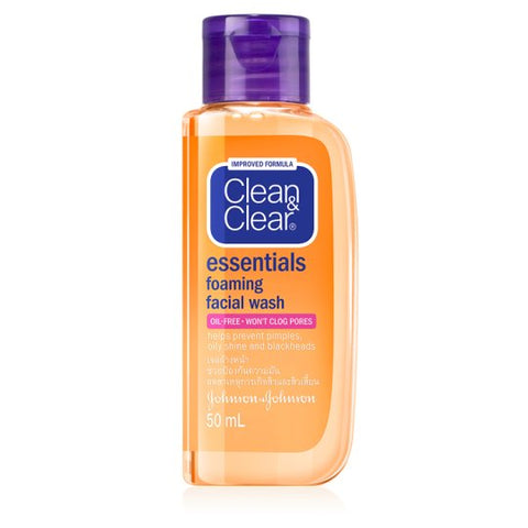 CLEAN & CLEAR ESSENTIALS FOAMING FACIAL WASH 50 ML