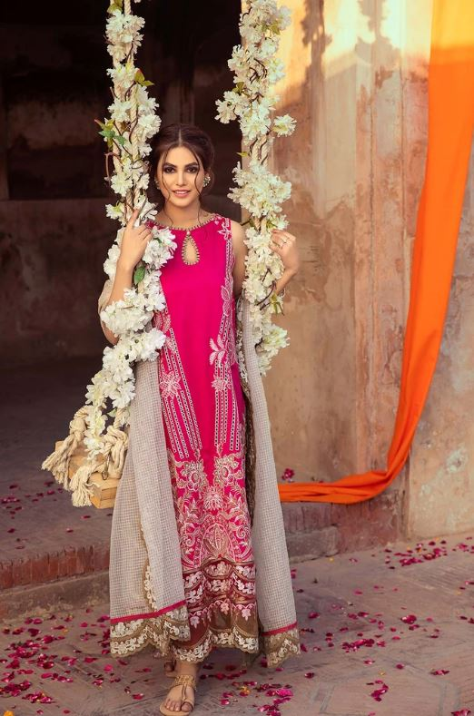 Charizma Signature Embroidered Lawn Collection'21 Princess Rules ELS-06