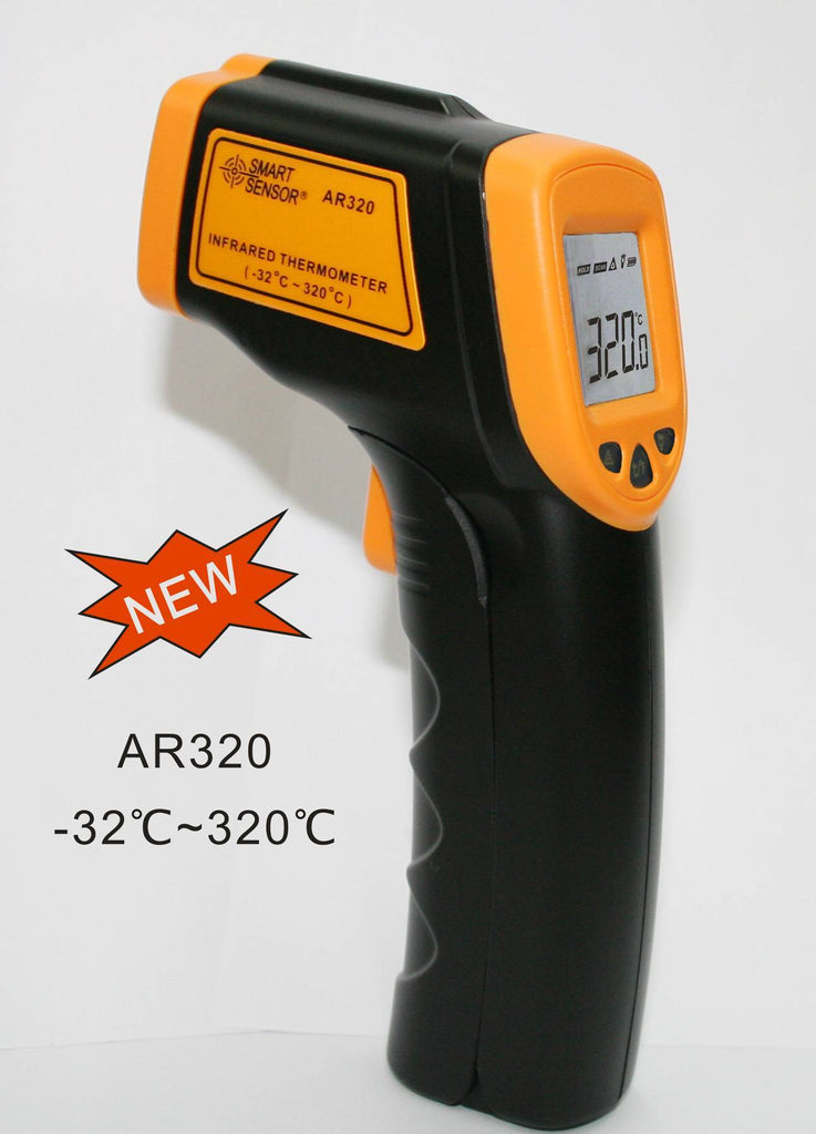 Smart Sensor AS320+ Infrared Thermometer Digital -32°C~380°C Degree Non-Contact Pyrometer Smart Sensor IR Thermometer