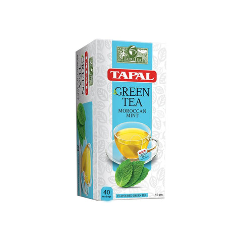 TAPAL MOROCCAN MINT GREEN TEA BAGS 45 GMS