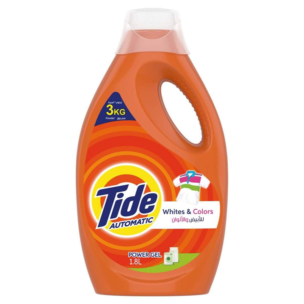 TIDE POWER GEL WHITES & COLORS 1.8 LTR