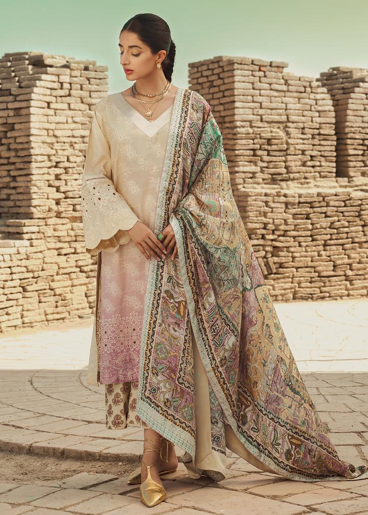 Tena Durrani Luxury Lawn Collection'21  Buttercream
