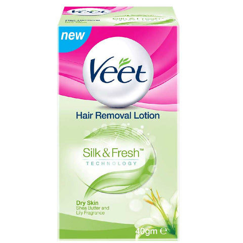 VEET SILKY FRESH HAIR REMOVAL LOTION DRY SKIN 40 GMS