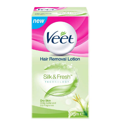 VEET SILKY FRESH HAIR REMOVAL LOTION DRY SKIN 80 GMS