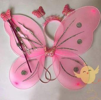 WINGS ROUND-BUTTERFLY PINK