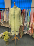 LACY DREAM KURTA-LIGHT GREEN | RJ'S PRET