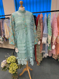 LACY DREAM KURTA-LIGHT BLUE | RJ'S PRET