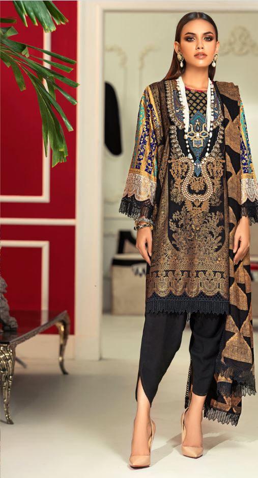 Sana Safinaz Muzlin Winter Collection'20 Codes: 13A (3 Piece)