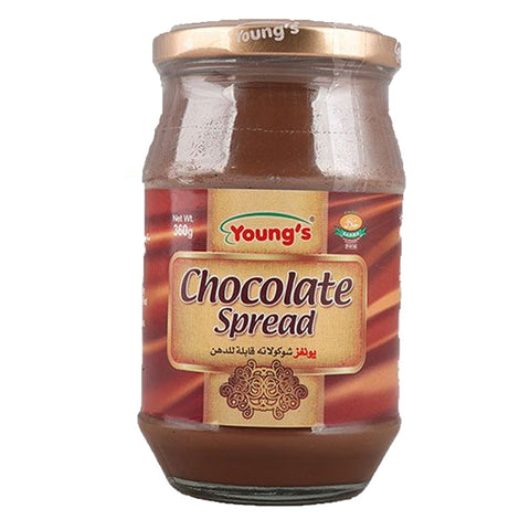 YOUNG'S CHOCOLATE SPREAD COCOA BASED BOTTLE 360 GMS