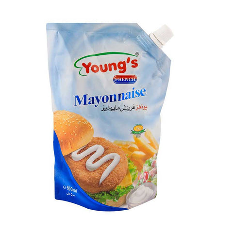 YOUNG'S FRENCH MAYONNAISE POUCH 500 ML