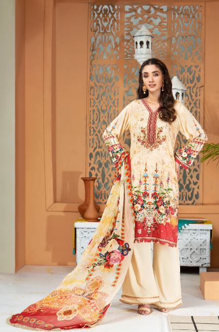 Mohagni Shamira Vol-1 Linen Collection'20 LSB-09 SKU: 0LSB09-999-999