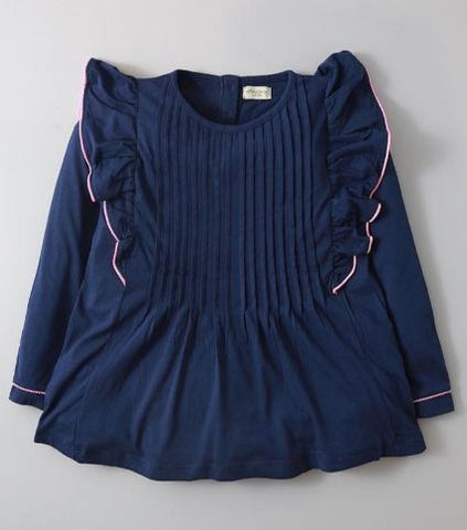Hopscotch Blue Pleated Top SKU: H-FW20-GKT-005