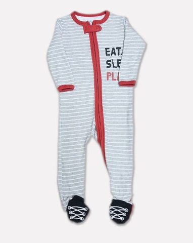 Minnie Minors Boys Printed Sleepsuit CBSS-012-GREY-7000000169976