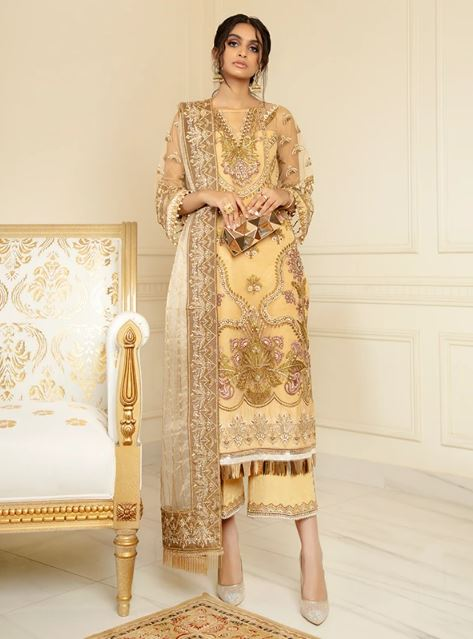 Serene premium CHIMERE Luxury Chiffon Collection'2021 S-1023 Gold Mode