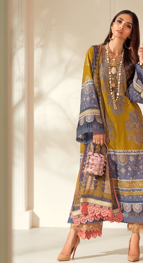 Sana Safinaz Muzlin Winter Collection'20 Codes: 2B (3 Piece)