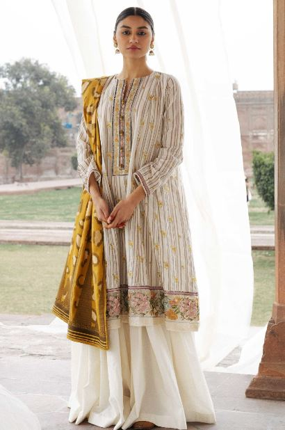 Zara Shahjahan Lawn Collection'20 SKU: ZAREEN-A