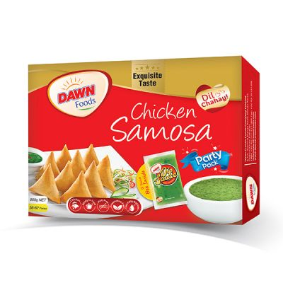 DAWN CHICKEN SAMOSA (PARTY PACK) WEIGHT(GRAMS):900