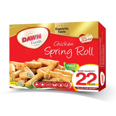 DAWN CHICKEN SPRING ROLL (VALUE PACK) WEIGHT(GRAMS):  440