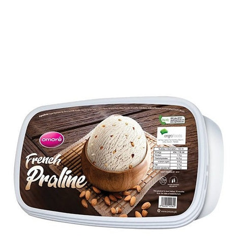 Omore French Praline Tub Ice Cream 1.4 Ltr