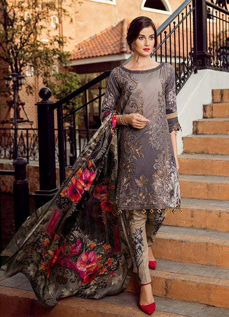 Iznik Premuim Lawn Collection'19 SUNSET- (IPL 08)