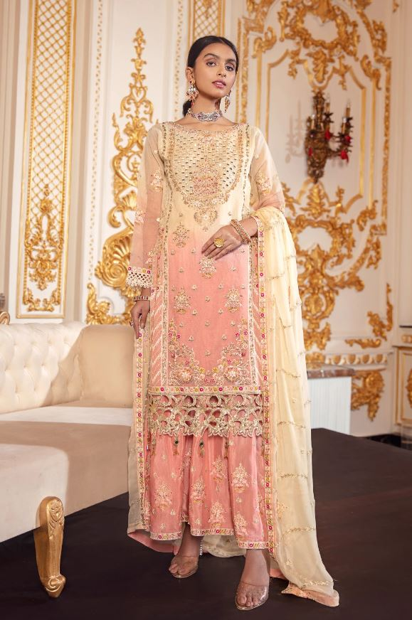 Emaan Adeel Belle Robe Wedding Edition'20 BR-08 CORAL CHROMA
