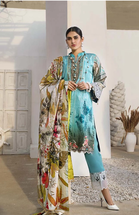 AL-Zohaib SUNSHINE BLOOM COTTON SILK'19 SSB19-P15