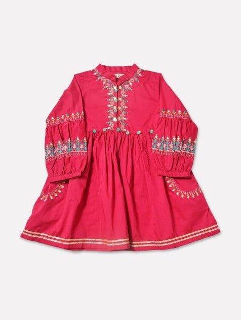 Minnie Minors Embroidered Kurti RGK-024-PINK-7000000163745