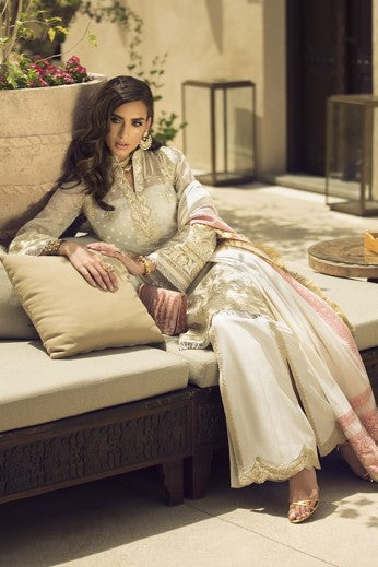 Faraz Manan Luxury Lawn Collection'19 FML 01