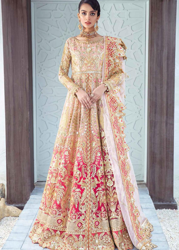 Freesia by Maryum N Maria Embroidered Chiffon Suits Unstitched 3 Piece MNM21WD 04 Sangria Savor - Wedding Collection