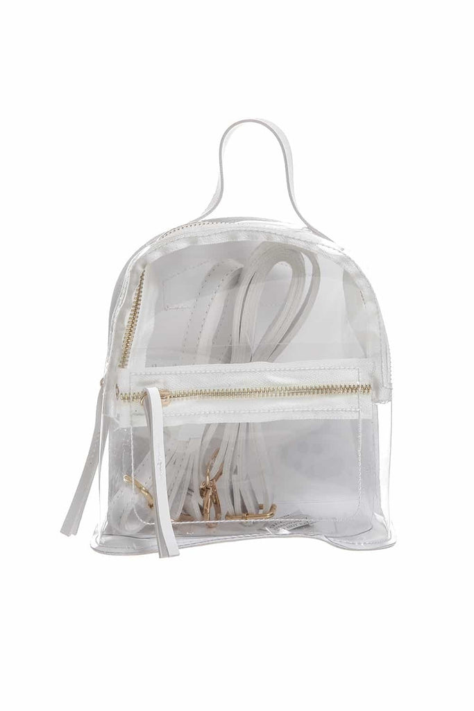 Transparent Mini Backpack  | Funky Fish